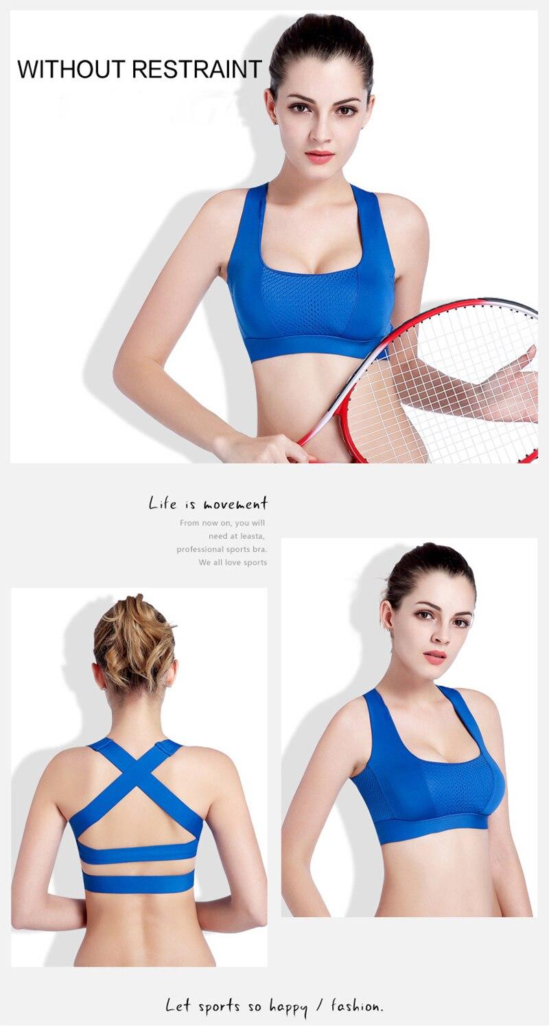 Women Cross Design Sports Bra Push Up Shockproof Vest Tops with Padding for Running Gym Fitness Jogging Yoga Shirt (18)