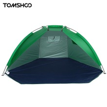 TOMSHOO 2 Persons Outdoor Beach Tents Shelters UV Protecting Summer Tent Sports Sunshade Camping Tent for Fishing Picnic Park
