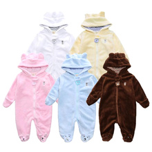 Buy Newborn Baby Girls Clothes Coral Fleece Autumn Boy Rompers Cartoon Bear Cosplay Clothing Infant Snowsuit Babies Jumpsuits for $10.91 in AliExpress store