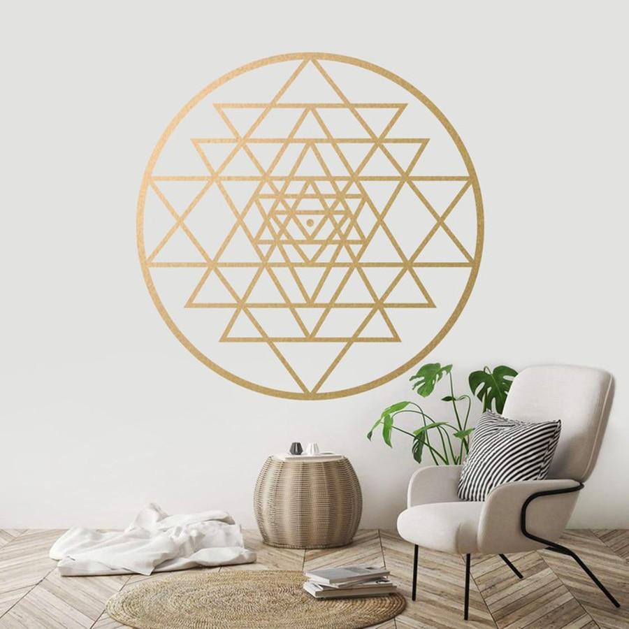 Flower Of Life Healing Grid Sacred Yoga Art Wall Hanging Zen Buddhism Decoration