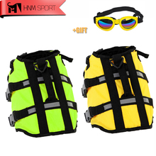 HNMSPORT Dog Life Jacket Pet Saver Life Vest  Swimming Preserver Dog Puppy Swimwear Surfing Swimming Vest Reflective Stripes