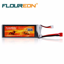 FLOUREON Lipo RC Battery 11.1V 5500mAh 3S 35C (Deans Plug) Rechargeable Battery for RC Helicopter RC Airplane RC Drone(China)