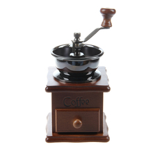 Mini Wooden Coffee Bean Spice Vintage Style hand grinder(China)