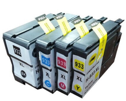 (4 pieces/lot) Free Shipping Compatible Ink Cartridge for HP 932XL 933XL for HP Officejet 7110  6100 6600 6700 Printer<br><br>Aliexpress