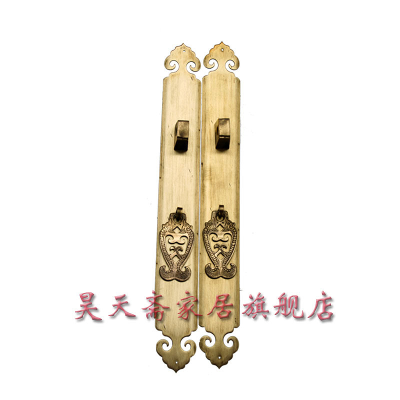 [Haotian vegetarian] antique copper straight Handle / Chinese decoration accessories long 30cmHTC-028<br><br>Aliexpress