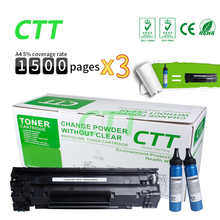 Buy CB435A / CE285A + 2 bottle powder compatible toner cartridge refillable HP P1005 P1006 CANON LBP3018 LBP3010 printer for $24.99 in AliExpress store