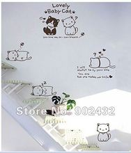 Wall Stickers Hello Kitty Home Decoration M7135(China)