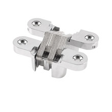 UXCELL Furniture Silver Tone Metal 61Mm Length Cross Hinge For Folding Sliding Door(China)