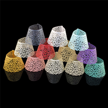 12pieces/lot Laser Cut Lace Wedding Cupcake Wrapper Filigree Vine Wraps Collars Cups Baby Shower Party Table Decoration(China)