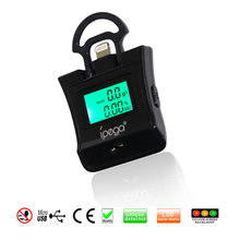 Professional Mini Mobil Phone Alcohol Tester Breath Breathalyzer for iPhone Samsung Android phone black color Dropshipping
