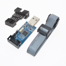 2 PCS =1PC SBASP USB AVR Programmer for Atmel USB ASP USBISP ISP Bootloader NEW+ 1PC 10PIN TO 6PIN ADAPTER WAVGAT(China)