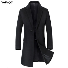 2017 New Fashion Mens Trench Coat Designer Men Long Coat Autumn Winter one-breasted Windproof Fit Slim Trench Coat Men Size 3XL