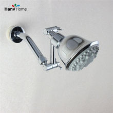 6 Function Chrome pressurized water saving ABS Saveing Water Rainfall Showerhead & Brass Adjust Shower Arm(China)