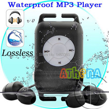 100%High quality IPX8 Waterproof MP3 Player 4GB lossless music player earphone Swimming Running Surf Sports Mp3 Player+Earphone(China)