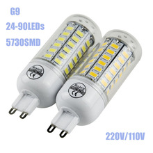 2016 Lampada LED Bulb G9 5730smd LED Lamp 24 36 48 56 70 80 90led Candle led Light Chandelier Spotlight 110V/220V