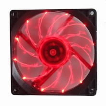 Gdstime 92mm x 92mm x 25mm 90mm 12V 3Pin Red LED Light With fifteen lights Computer Case DC Cooling Fan Cooler(China)