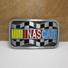 Bullzine Fashion nascar belt buckle with color enamel with pewter finish FP-02588 suitable for 4cm wideth belt free shipping(China)