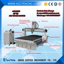 chinese cnc machine dust collector attached cnc woodworking router 1325, foam cutting rotary axis 4th axis cnc router