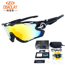 OKL cycling glasses polarized goggles bicycle glasses 5 lenses mountain bike MTB Sports Eyewear(China)