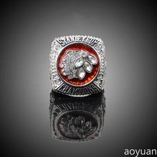 aoyuan Championship rings, ice hockey 2013 Chicago Blackhawks stanley cup championship ring, sports fans rings, men gift ring