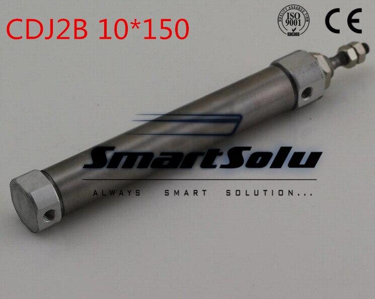 Free Shipping  Type Mini Air Cylinder CDJ2B 10mm Bore 150mm Stroke Pneumatic Cylinder 10-150mm<br>