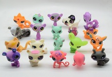LPS lps Toy bag 20Pcs Pet Shop Animals Cats Kids Children Action Figures PVC LPS Toy Birthday Gift 4-5cm(China)