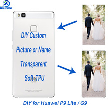 Custom Photo Soft TPU For Huawei P9 Lite Transparent DIY Phone Case 5.2 inch for Huawei G9 Lite Shell Clear Thin 0.5mm Cover