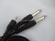 3.5 mm to dual 6.3/6.5 A second audio line Mixer cables Audio and video signal cable 5M 16ft Mixer cables Free Shpping