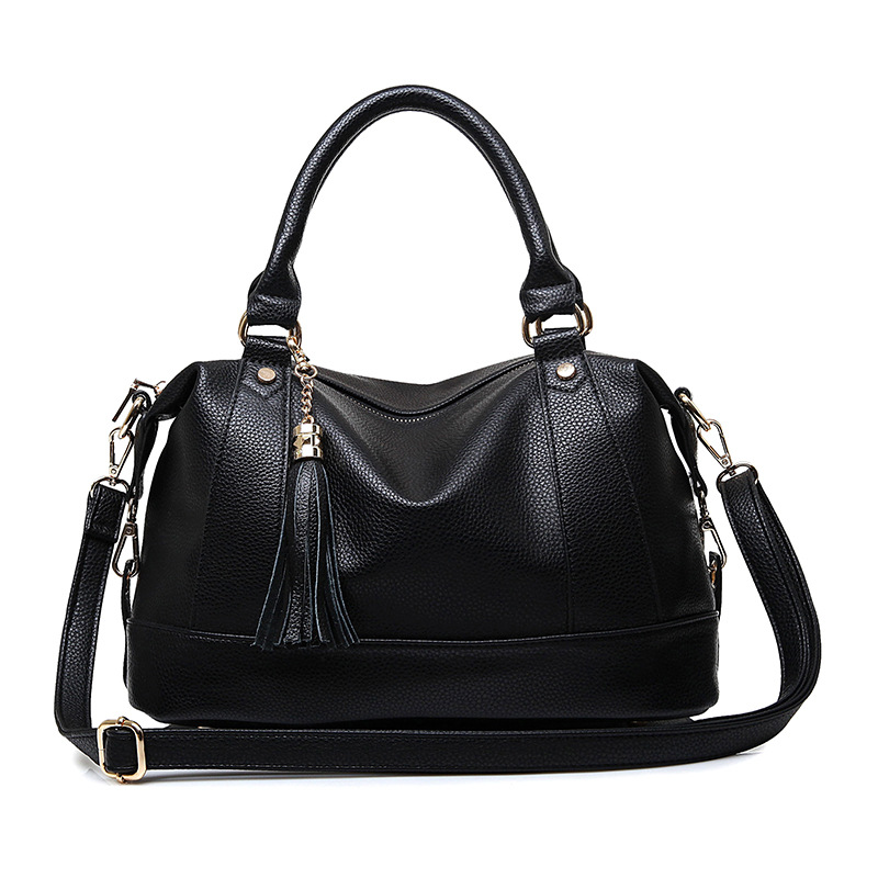 Casual women bag 2017 European and American famous designer womens handbags. Fashion classic tassel women shoulder bag<br><br>Aliexpress