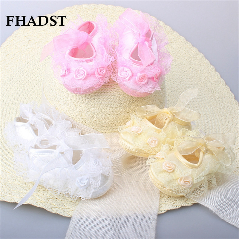 FHADST Fashion Baby Girls Infant Shoes New Style Toddler First Walkers Soft Silk Leisure Newborn Skid-Proof Kids Lovely Shoes(China (Mainland))
