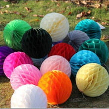 AJP 10pcs/lot Tissue Paper Flower ball Honeycomb Lantern Wedding decoration Holiday supplies Wholesale