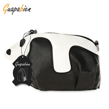 Guapabien Cute Panda Preppy Style Crossbody Shoulder bag For Girls Mini Bag Ladies Clutch Bag Girl Hobos Bags bolsa feminina