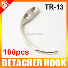 100Pcs/lot Detacher Hook Key Detacher Security Tag Remover Used For EAS Hard Tag Handheld Convenience Portable Mini One
