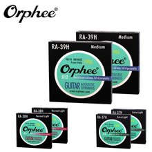 10 Sets Orphee RA Hexagonal Nickel Alloy 90/10 Phosphor Copper Acoustic Folk Guitar Strings Vacuum Packaging 010 011 012