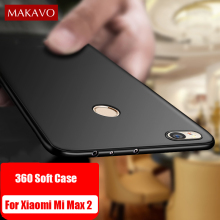 MAKAVO Cover For Xiaomi Mi Max 2 Case 360 Full Protection Soft Silicone Housing Slim Matte Design For Mi Max 2 Phone Cases Coque