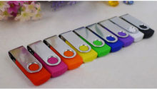 Mini Rotation USB Flash Drive Aluminum Swivel Memory Drive Pen colorful Keychian creative Pendrive S82 can print logo