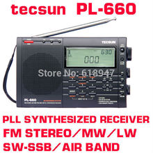 Free Shipping Retail-Wholesale Tecsun pl-660 FM Radio Stereo LW MV SW-SSB AIR PLL SYNTHESIZED PL660 Radio(China)