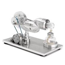 New Arrival Stainless steel Mini Hot Air Stirling Engine Motor Model Educational Toy Science Experiment Kit Set For Chuldren(China)