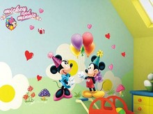 Cartoon Children Room Decoration and Minnie Mouse Wallpaper Sticker 45*60cm(China)