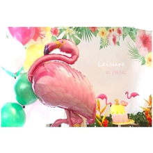 Jumbo Pink Flamingo Mylar Balloons Tropical Hawaiian Luau Party Decoration anniversary Celebration Kids Birthday party idea