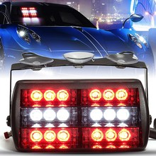 18 LED Emergency Vehicle Strobe Lights Car Windshields Dashboard Flasher Car Warning Lights Red White Red For Ambulance