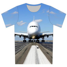 Joyonly Boys Girl New 2018 Summer 3D Printed T-shirts Blue Sky Aircraft  Take off Pattern T shirts Children Cool Tops 4-20 Years 9173905e4102