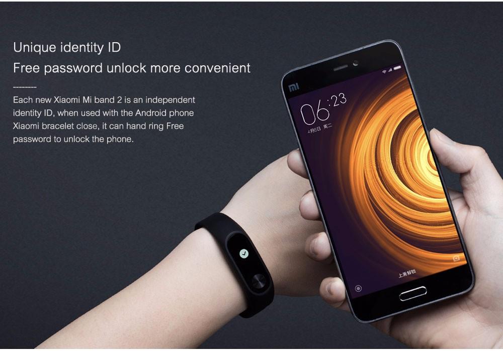 In stock 100% Original Xiaomi Mi smart wristband Xiomi Fitness Bracelet miband 2 mi band 2 for Xiaomi Mi6 sport tracker 9