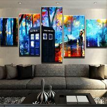 Entzuckend Moderne Keine Gerahmte Für 5 Panel Liebhaber Unter Straße Lampen Gemälde  Auf Leinwand Poster Und Drucke Bilder Auf Die Wand