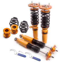Coilover Spring Shock Absorber for BMW 3 Series E46 320 323 328 M3 Adj. Height Coilovers Spring Top Mount Camber Plate Front(China)