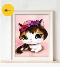 CAMMITEVER Diamond Embroidery 3pcs/set DIY Mosaic Cartoon Cats Handmade Painting Kits Patterns Rhinestones Arts