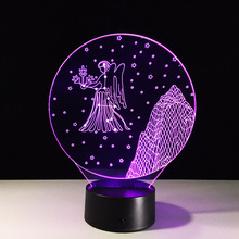 Virgo Constellation Children's nightlight USB Led Night Lights Robot 3D Led Lamp kids gift 3D Touch/Remote Control Novelty Lamp