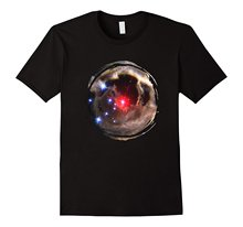 Hubble Light Echo Mysterious Erupting Star Galaxy T-Shirt T-Shirt Summer Style Men T Shirt New Man Design T-Shirt Print(China)