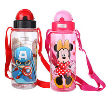 400-500ml Eco-friendly Kid Bickiepegs baby kettle baby cartoon water bottle children Straw Bottle Children kettle sports bottle