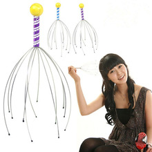 100pcs/lot manual vibrating scalp handle head massager hair brushes health care product head scalp massager